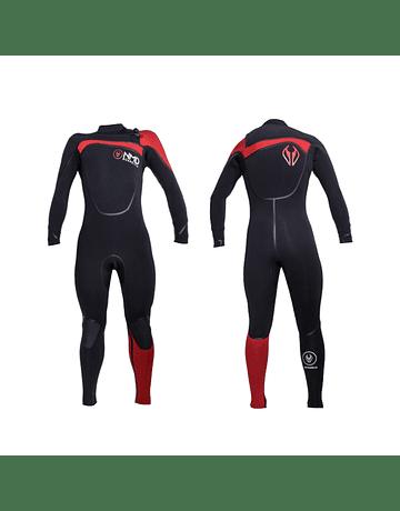 Traje Neopreno NMD Black – Red 4/3 mm
