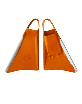 Aletas Air Hubb Clásica Orange – White