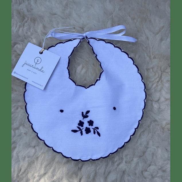 Babero Flores Azul Marino