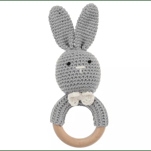Mordedor Conejo Sonajero de Crochet