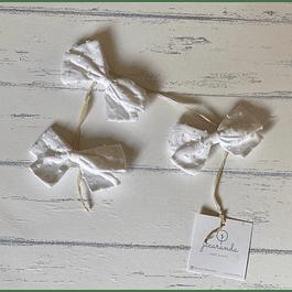 Cintas Plumeti Blancas