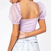 Blusa juvenil manga corta