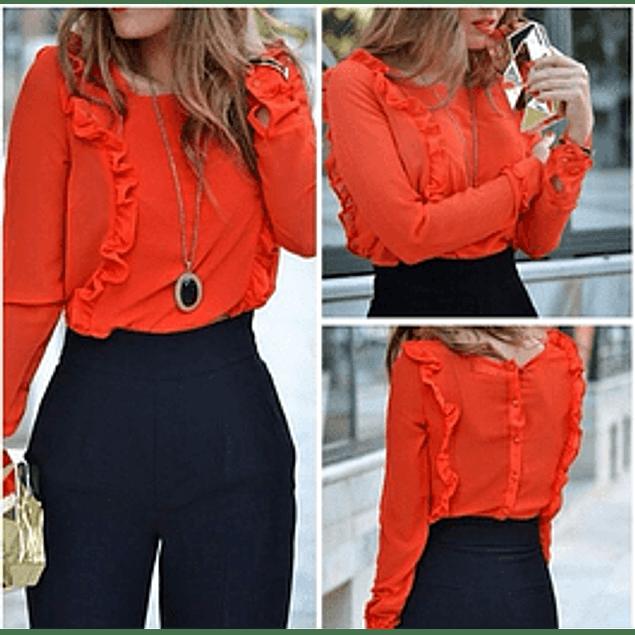 Blusa de moda manga larga con bolero