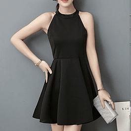 Vestido de moda moderno sin manga
