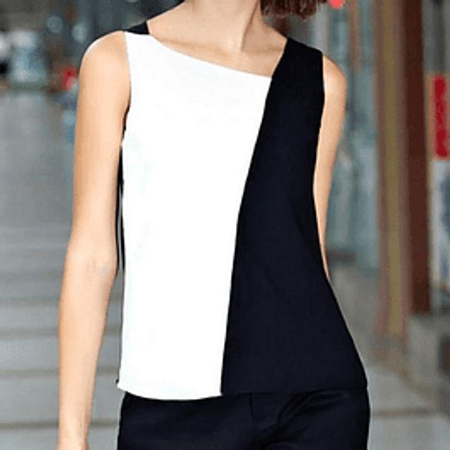 Blusa de moda blanco y negro