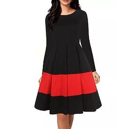 Vestido elegante falda amplia