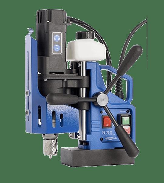 Taladro Magnetico Fe PowerTools  FE 36X con accesorios