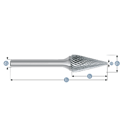 LIMAS ROTATIVAS DOBLE ANGULO M1625M06