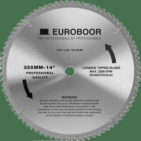 """Disco de corte de metal 355mm 14"""" Aluminio marca Euroboor procedencia Holanda"""
