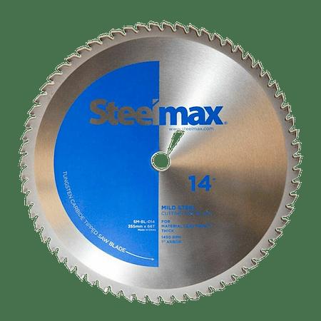 "Disco de Corte de Metal Acero 355mm 14"" M. Steelmax Azul SM-BL-014"