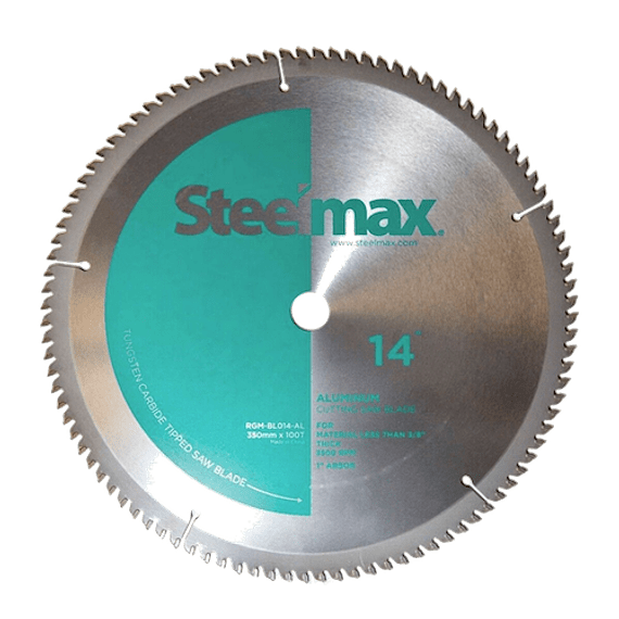 "Disco de Corte de Metal 355mm 14"" Aluminio Steelmax Verde SM-BL-14-AL"