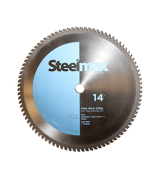"""Disco de Corte de Metal Acero 355 x 90 14"""" M. Steelmax Celeste SM-BL-014-TS"""