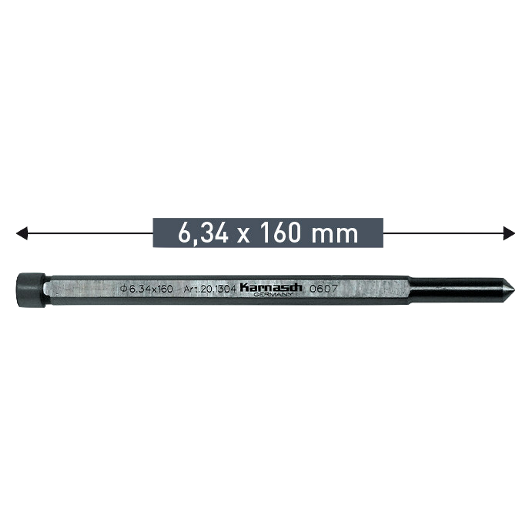 Guia De Centro Hss 6,34 x 160mm (20.1304) karnasch