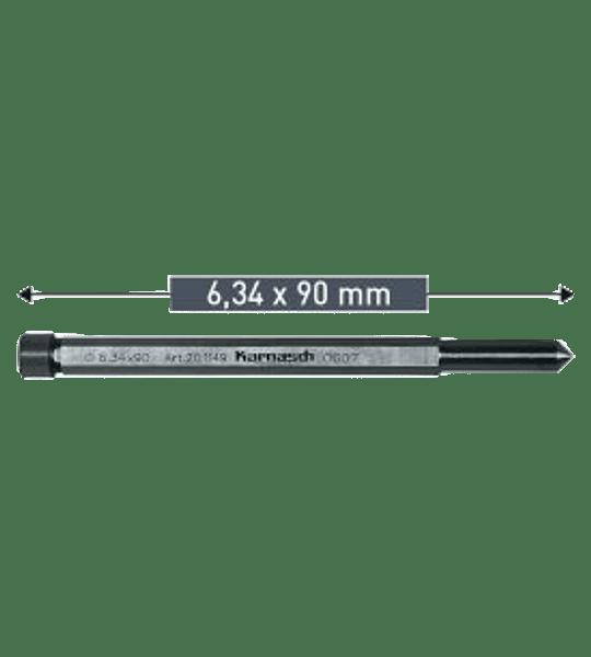 Guia De Centro Hss 6.34 x 90mm karnasch 20.1149