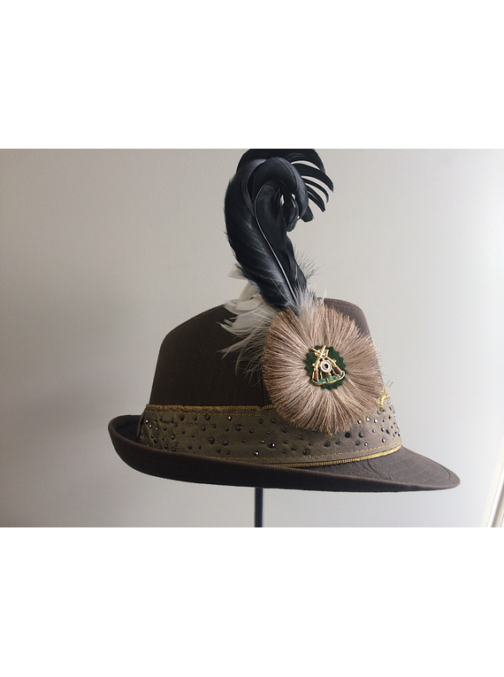 janosch moldau boss hat with bavarian feather