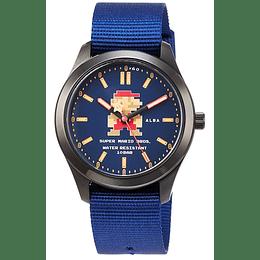 Reloj Super Mario 8 BITS Seiko Alba Blue