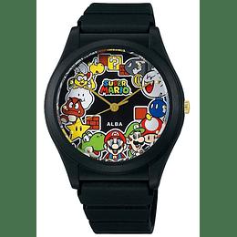 "Reloj Super Mario Seiko Alba ""Everyone Gathering"""