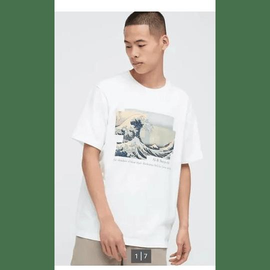 Polera La Gran Ola De Kanagawa L Japones