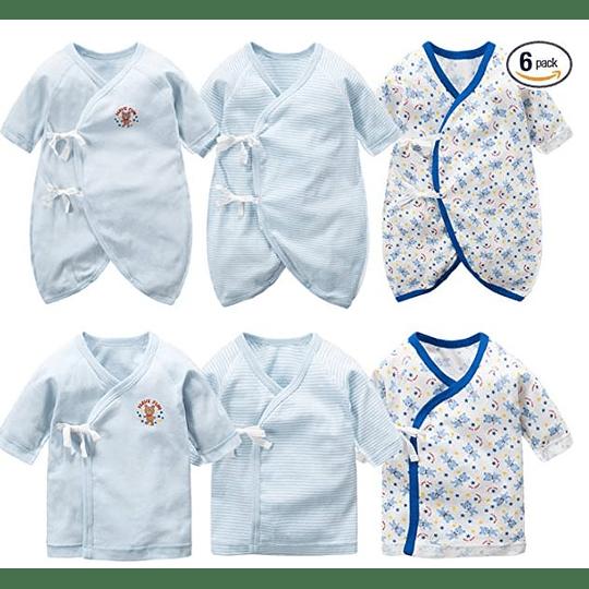 3 Body mas 3 poleras para Bebé 100% Algodón Japonés