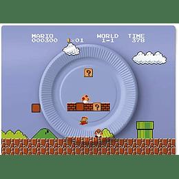 Platos Cumpleaños Super Mario 8 Bits