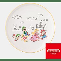 Plato Exhibición Super Mario Family Nintendo Tokyo - Ceramico 23,5 CM