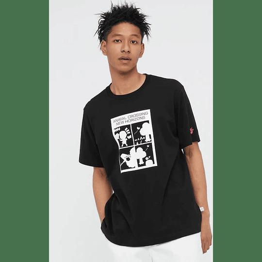 Polera Uniqlo Animal Crossing Black (tallas Japonesas)