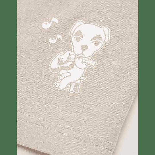 Polera Uniqlo Animal Crossing Brown (tallas Japonesas)