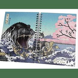 Godzilla Notebook Cherry Blossom