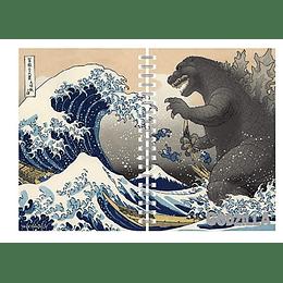 Godzilla Notebook kanagawa wave