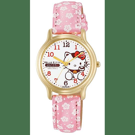Reloj Hello Kitty Citizen Q&Q Floral Strap