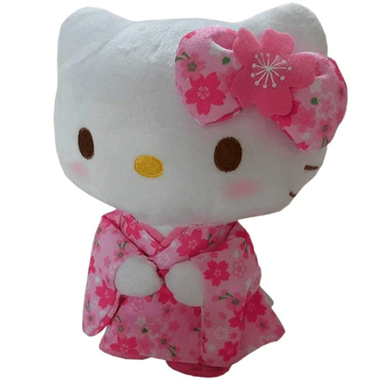 Peluche Hello Kitty Sakura Kimono Pink 20CM