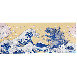 Tenugui Godzilla Kanagawa Wave