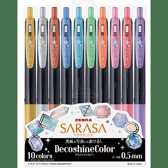 Lápices Sarasa DecoShineColor .5MM 10 colores