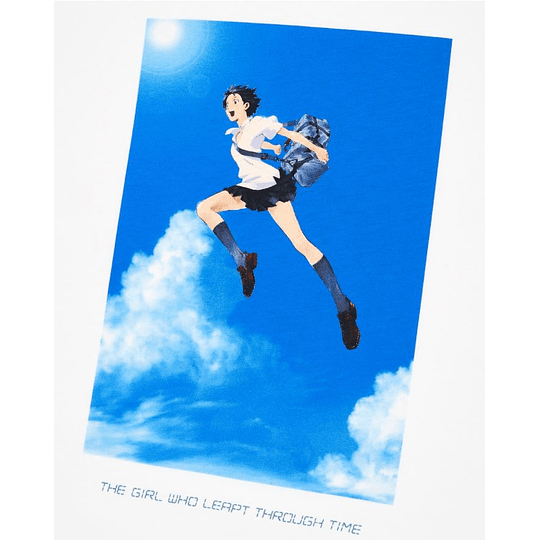 polera Uniqlo La chica que saltaba a través del tiempo (tallas japonesas)