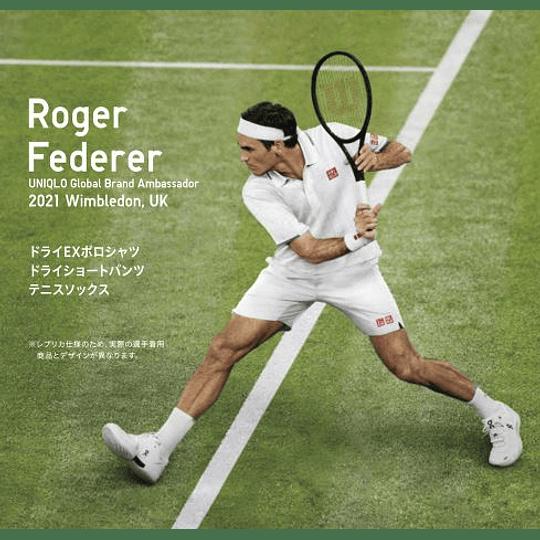 Polera Federer Wimbledon 2021 (talla 160 infantil, equivalente XS adulto)