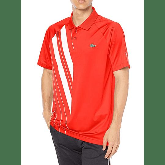 Polera Lacoste Novak Djokovic  Red White Stripes