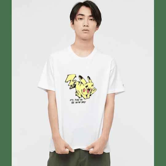 Polera Uniqlo Pokémon Meets Artist Pikachu  (tallas Japonesas)