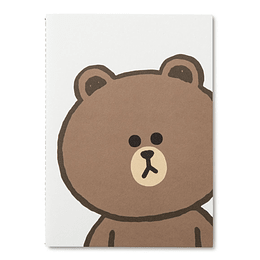 Cuaderno A5 Brown Line Friends