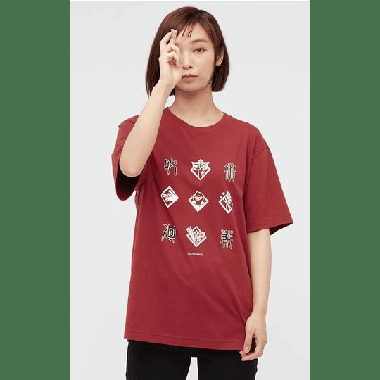 Polera Uniqlo Jujutsu Kaisen RED (tallas japonesas)