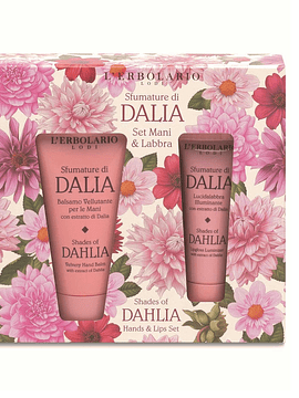 Set Crema Manos y Brillo Labial Shades of Dahlia