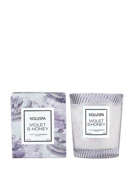 Vela Vaso Vidrio Text Violet & Honey 184 g