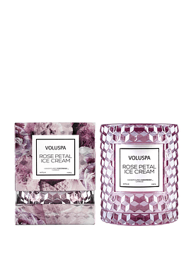 Vela Vidrio en Caja Rose Petal Ice Cream 240 g