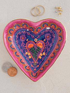 Plato Crámica Pequeño Corazón