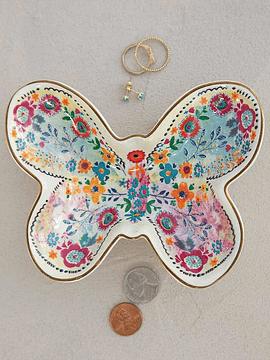 Plato Cerámica Pequeño Mariposa