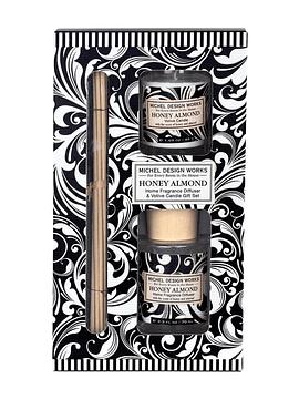 Set Difusor Varillas/Vela Honey Almond