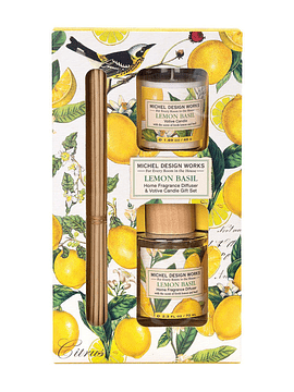 Set Difusor Varillas/Vela Lemon Basil