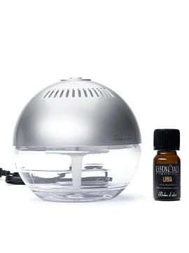 Brumizador de Ambiente Plata 600 ml + Aceite Esencial Lima 10 ml