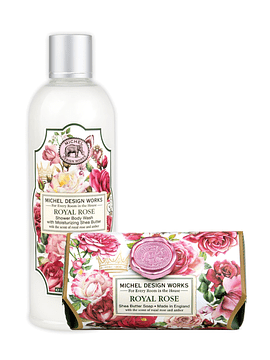 Gel Ducha 500 ml + Jabón Barra 246 g Royal Rose