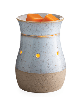 Lámpara y Calentador de Cera Aromática Mini Rustic White