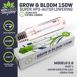 Ampolleta  Grow y Bloom 150w Grow Genetics